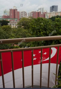 national-flag-in-a-social-housing-hdb-block-in-singapore-E6318C